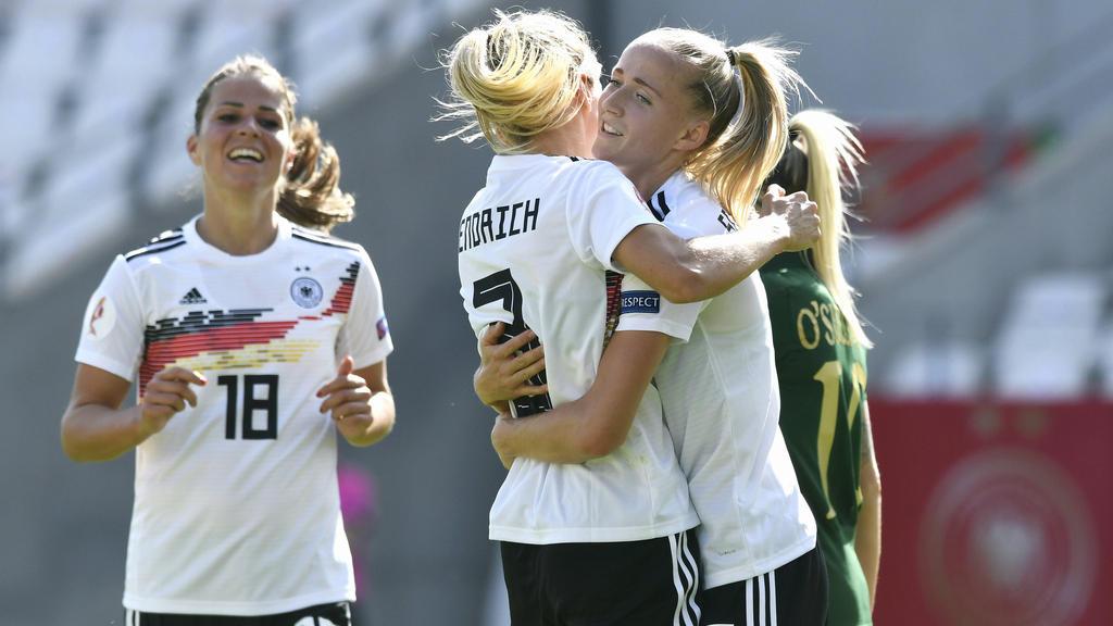 Die DFB-Frauen jubelten auch in Montenegro