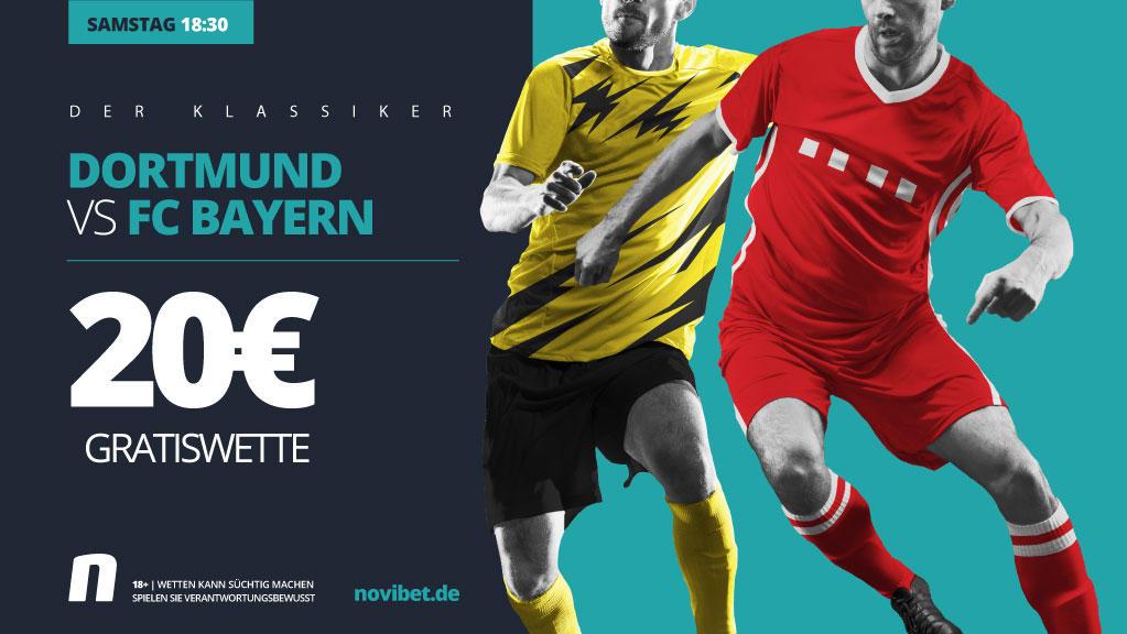 Der BVB empfängt den FC Bayern im Top-Spiel - JETZT wetten!