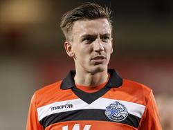 Moreno Rutten baalt na afloop van het competitieduel FC Oss - FC Den Bosch. (03-04-2015)