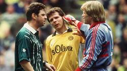 Schon in den Neunzigern hatten die Duelle zwischen den BVB und dem FC Bayern viel Brisanz