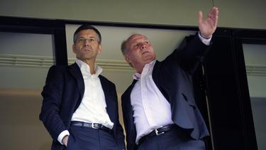 Herbert Hainer und Uli Hoeneß vom FC Bayern denken um