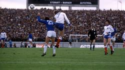 Patrice Rio (7) against Paolo Rossi (21)