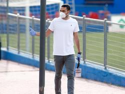 Jorge Molina llega a entrenar hace unos días.