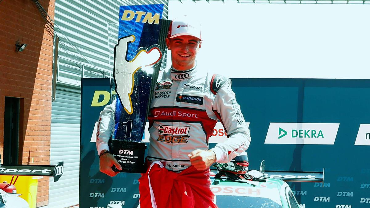 Nico Müller ist der erste Sieger der DTM 2020, aber er musste zittern