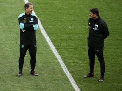 Fünf Jahre arbeitete Imre Szabics (r.) als Co-Trainer von Franco Foda