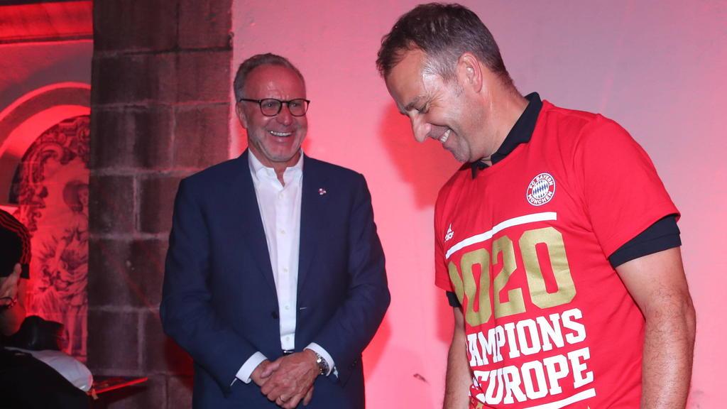 Erfolgreiche Macher beim FC Bayern: Karl-Heinz Rummenigge und Hansi Flick