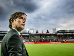 Trainer Alex Pastoor voorafgaand aan het kampioensduel van Sparta Rotterdam met Jong Ajax. (11-04-2016)