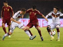 Nolito bei seinem Länderspieldebüt gegen den Weltmeister