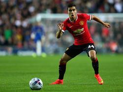 Andreas Pereira con la camiseta del Manchester United. (Foto: Getty)