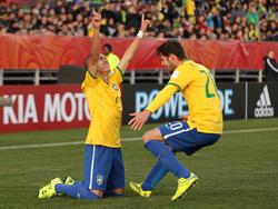 Marcos Guilherme cerró el festival de goles al tocar a la red un centro atrás de Boschilia. (Foto: Getty)