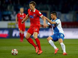Matthias Wittek (l. bleibt Heidenheim bis 2018 erhalten