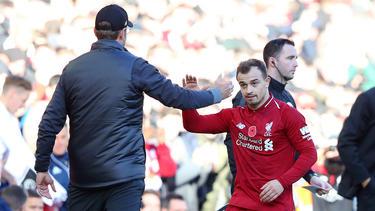 Mittlerweile beim FC Liverpool untergekommen: Xherdan Shaqiri (r.)