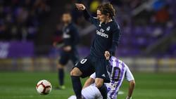 Modric marcó el tercer gol del Madrid en Valladolid. (Foto: Getty)