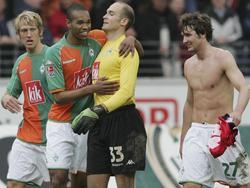 Vander bejubelt den Werder-Sieg in Frankfurt