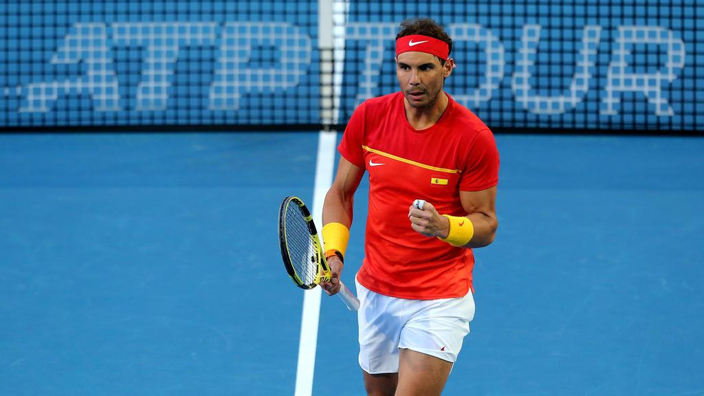 Rafael Nadal steht mit Spanien im Viertelfinale des ATP Cups