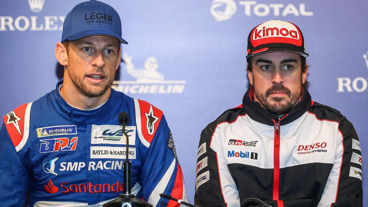 Glaubt nicht an Renault-Comeback von Fernando Alonso: Jenson Button (r.)