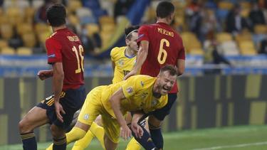 Die Spanier unterlagen in der Ukraine