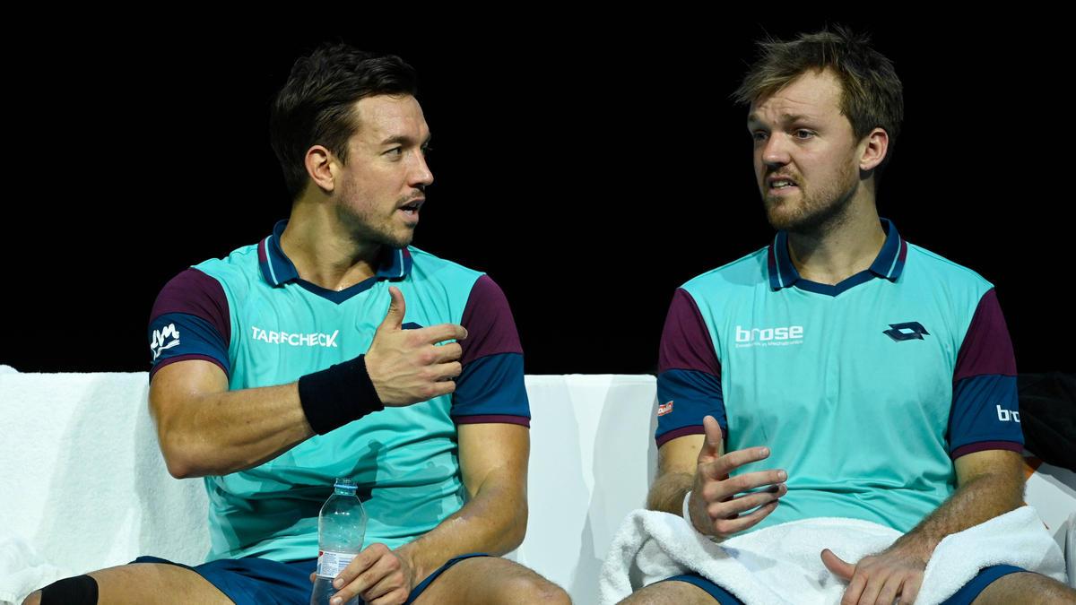 Andreas Mies (l.) musste die Australian Open absagen