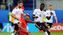 2017 beim Confed Cup gemeinsam für Deutschland auf dem Rasen: Shkodran Mustafi (l.) und Antonio Rüdiger (r.)