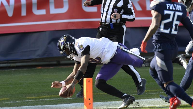 Die Baltimore Ravens schlugen die Tennessee Titans