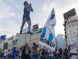 Diego Maradona fue homenajeado en las calles de Argentina.