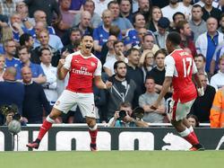 Alexis Sánchez celebra su gol en el derbi contra el Chelsea. (Foto: Getty)