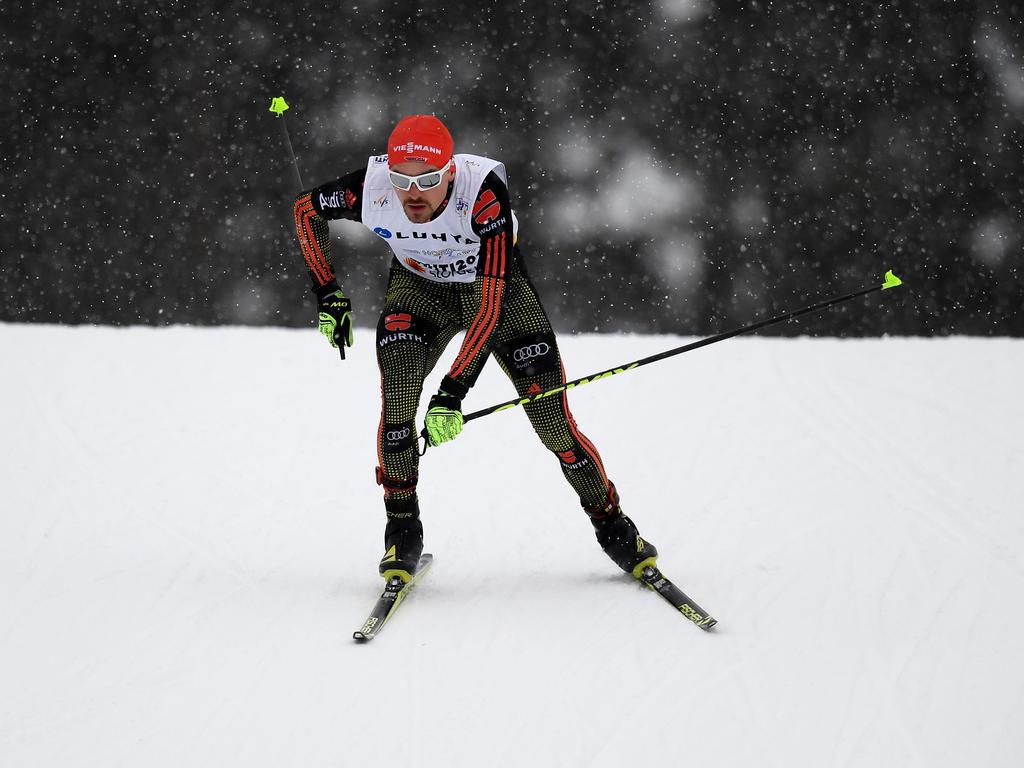 Fabian Rießle war nach dem Springen noch auf Rang zehn