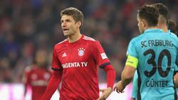 Thomas Müller wurde gegen Freiburg nach rund 70 Minuten eingewechselt