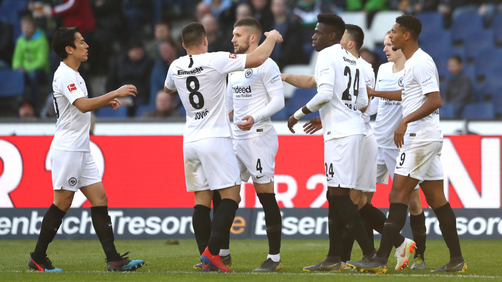 Eintracht Frankfurt setzte sich souverän gegen Hannover 96 durch