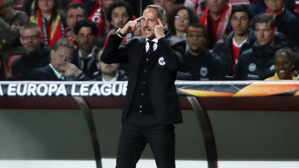 Adi Hütter glaubt an das Weiterkommen von Eintracht Frankfurt