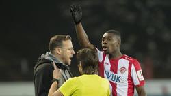 Leon Kwadwo von den Würzburger Kickers wurde von einem Fan rassistisch beleidigt