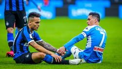 Das Duell zwischen Neapel und Inter Mailand wird nicht wie geplant stattfinden