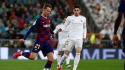 De Jong en el último encuentro contra el Real Madrid.