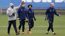Daniel Thioune (l.) will mit seinem HSV zurück in die Erfolgsspur