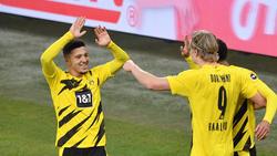 Hatte entscheidenden Anteil am Sieg des BVB beim FC Schalke 04: Jadon Sancho (l.)