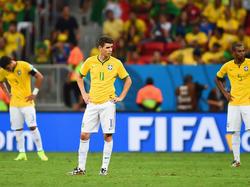 Nach dem verlorenen Spiel um Platz 3 lassen die Brasilianer ihre Köpfe frustriert hängen