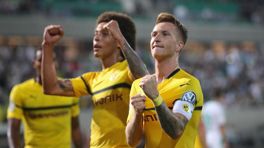 Die beiden Torschützen des BVB im Pokal: Axel Witsel und Marco Reus
