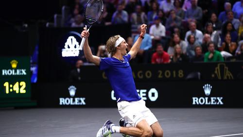 Alexander Zverev hat knapp gegen John Isner gewonnen
