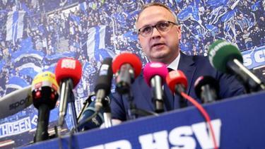 Frank Wettstein gab die Zahlen zum Geschäftsjahr 2017/18 des Hamburger SV bekannt