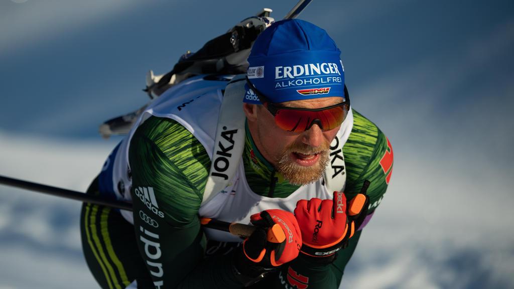 Erik Lesser holt mit der deutschen Mixed-Staffel den zweiten Rang