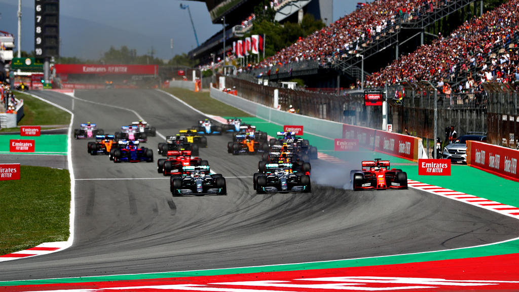 Start in Spanien: Bottas verliert Rang eins an Hamilton