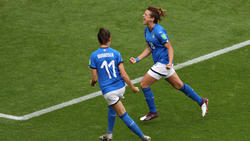 Girelli (r.) bejubelte gegen Jamaika drei Tore