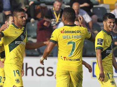 Los jugadores del Paços celebran el gol. (Foto: Getty)