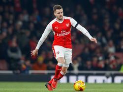 Carl Jenkinson krijgt speeltijd tijdens het League Cup-duel Arsenal - Southampton (30-11-2016).
