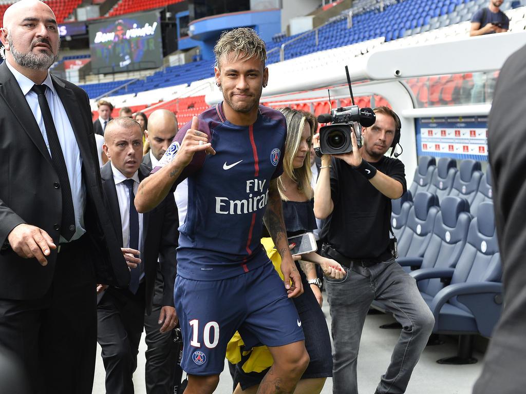 Einer der sportlichen Aufreger 2017: Neymars Wechsel zu PSG