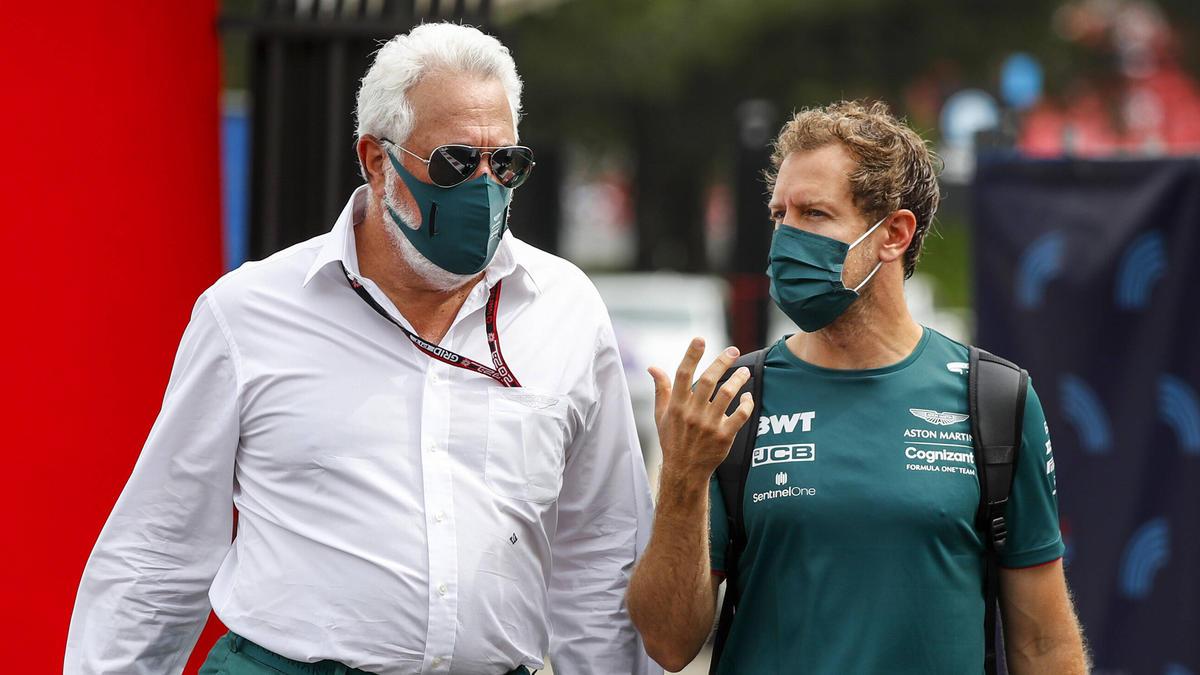 Sebastian Vettel (re.): Seine Bestätigung für 2022 scheint Formsache