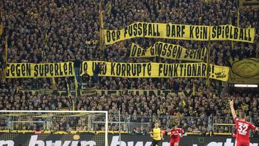 Auch die Fans des BVB protestierten gegen die Super League
