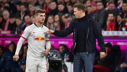 Julian Nagelsmann (r.) hofft auf langfristigen Werner-Verbleib