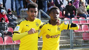 Ansgar Knauff und Youssoufa Moukoko erzielten Tore für die U19 des BVB