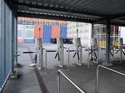Die Drehkreuze vom St. Jakob-Park werden stehen bleiben